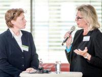 Elke Strothmann und Barbara Wackernagel-Jacobs (ehemalige Familienministerin des Saarlandes und Filmproduzentin)