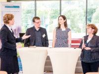 Elke Strothmann, Stephan Roggendorff (START NRW GmbH), Sibylle Stippler (KOFA Fachkräftesicherung) und Regina Neumann-Busies (Henkel AG & Co. KGaA)
